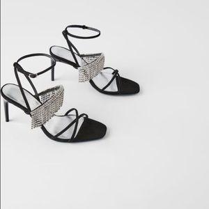 Zara blue collection sandalrs